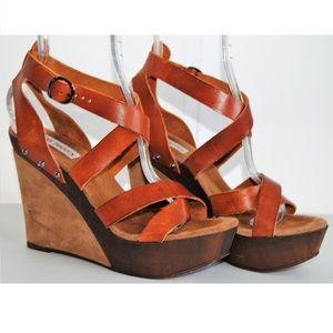 Steve Madden Monroee Leather Wedge Platform Sandal